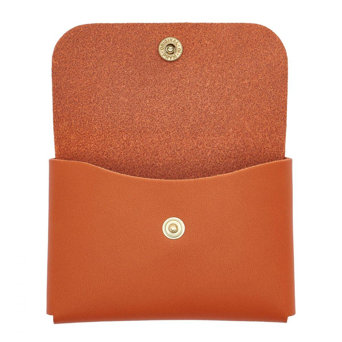 Card Case in Cowhide Double Leather color Orange - SCC032 | Details