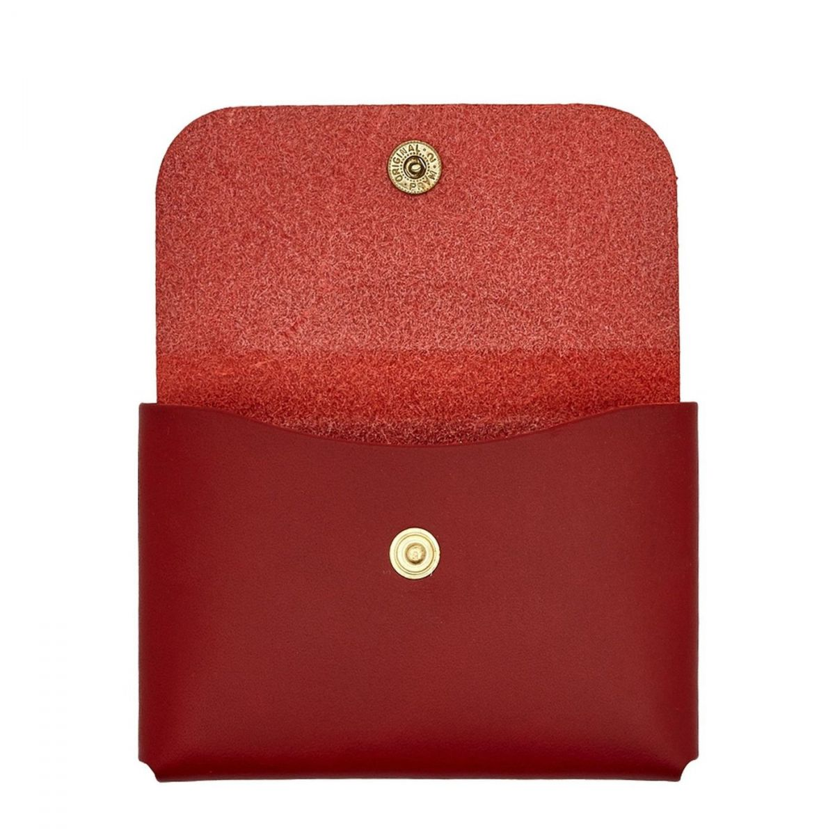 Card Case  in Cowhide Double Leather SCC032 color Red Rubino | Details