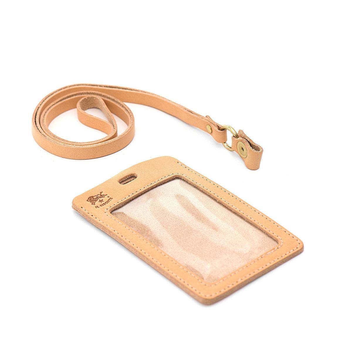 Porta Carte  in Doppia Pelle Di Vacchetta SCC033 colore Naturale | Details
