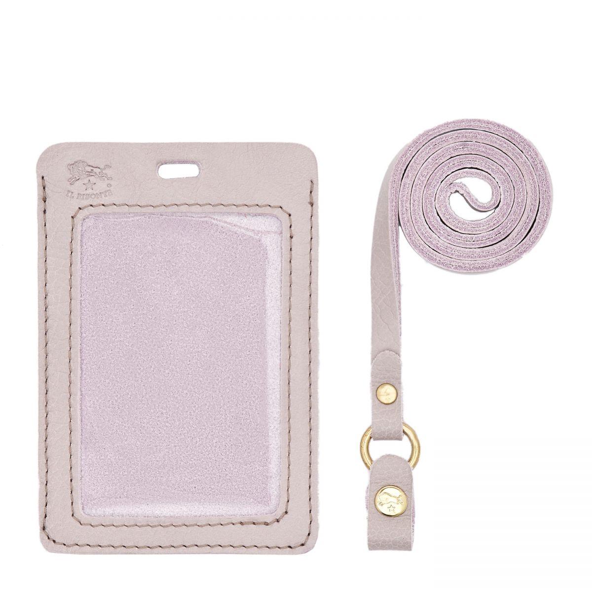 Card Case in Cowhide Leather color Mauve - SCC033 | Details