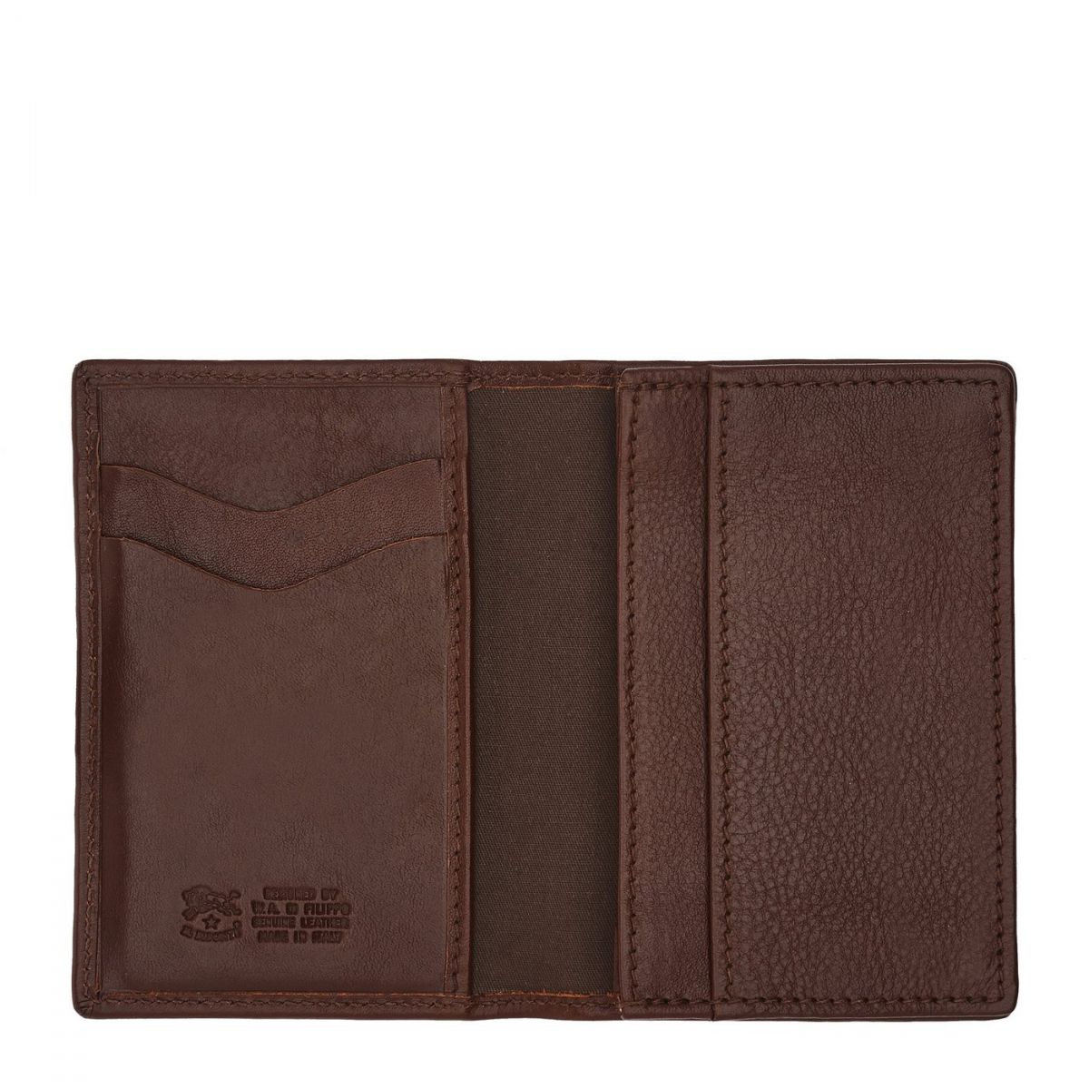 Card Case  in Cowhide Double Leather SCC036 color Brown | Details
