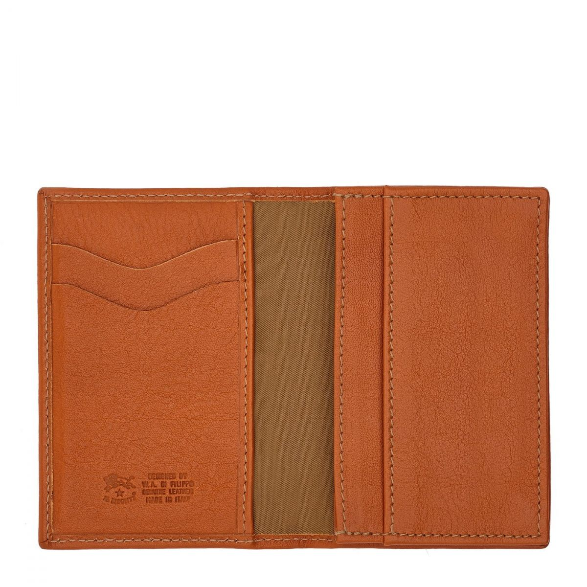 Card Case  in Cowhide Double Leather SCC036 color Caramel | Details