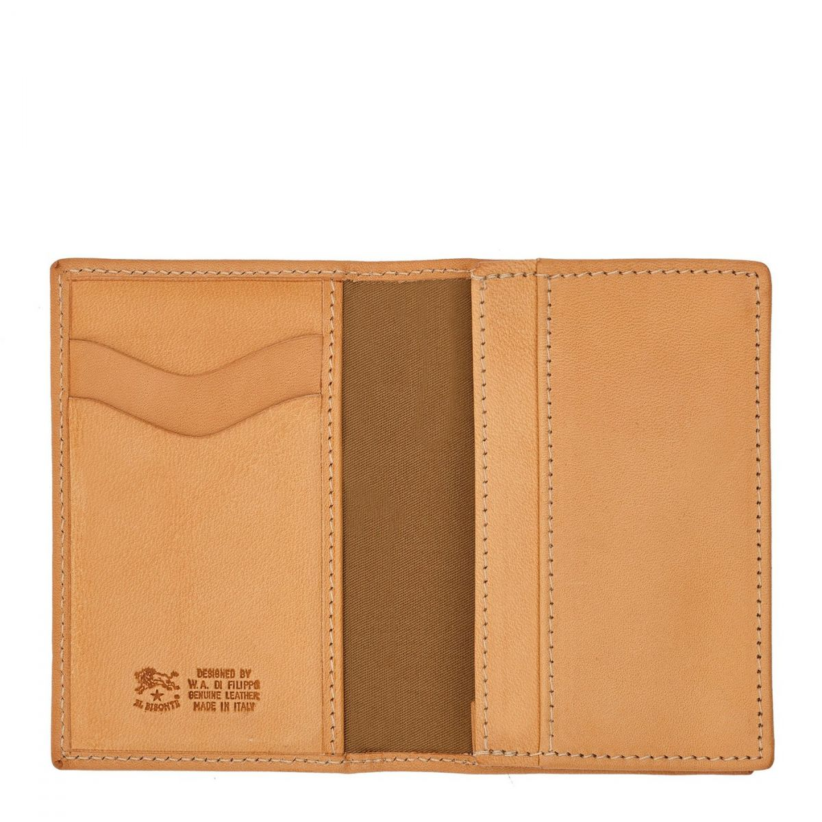 Card Case  in Cowhide Double Leather SCC036 color Natural | Details