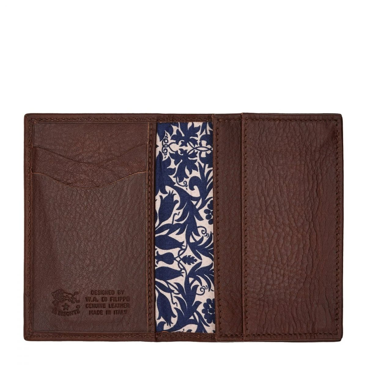 Card Case  in Cowhide Leather SCC036 color Brown | Details