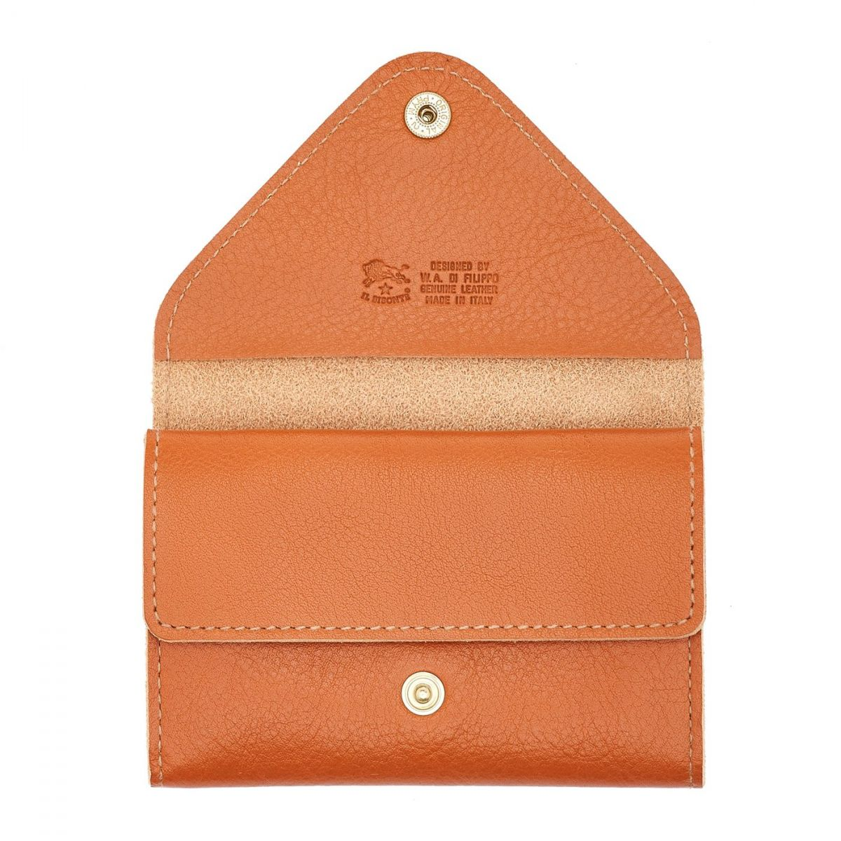 Porte-Cartes  en Cuir De Vachette Doublé SCC039 couleur Caramel | Details