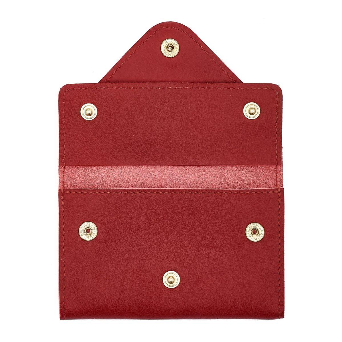 Porta Carte  in Doppia Pelle Di Vacchetta SCC039 colore Rosso | Details