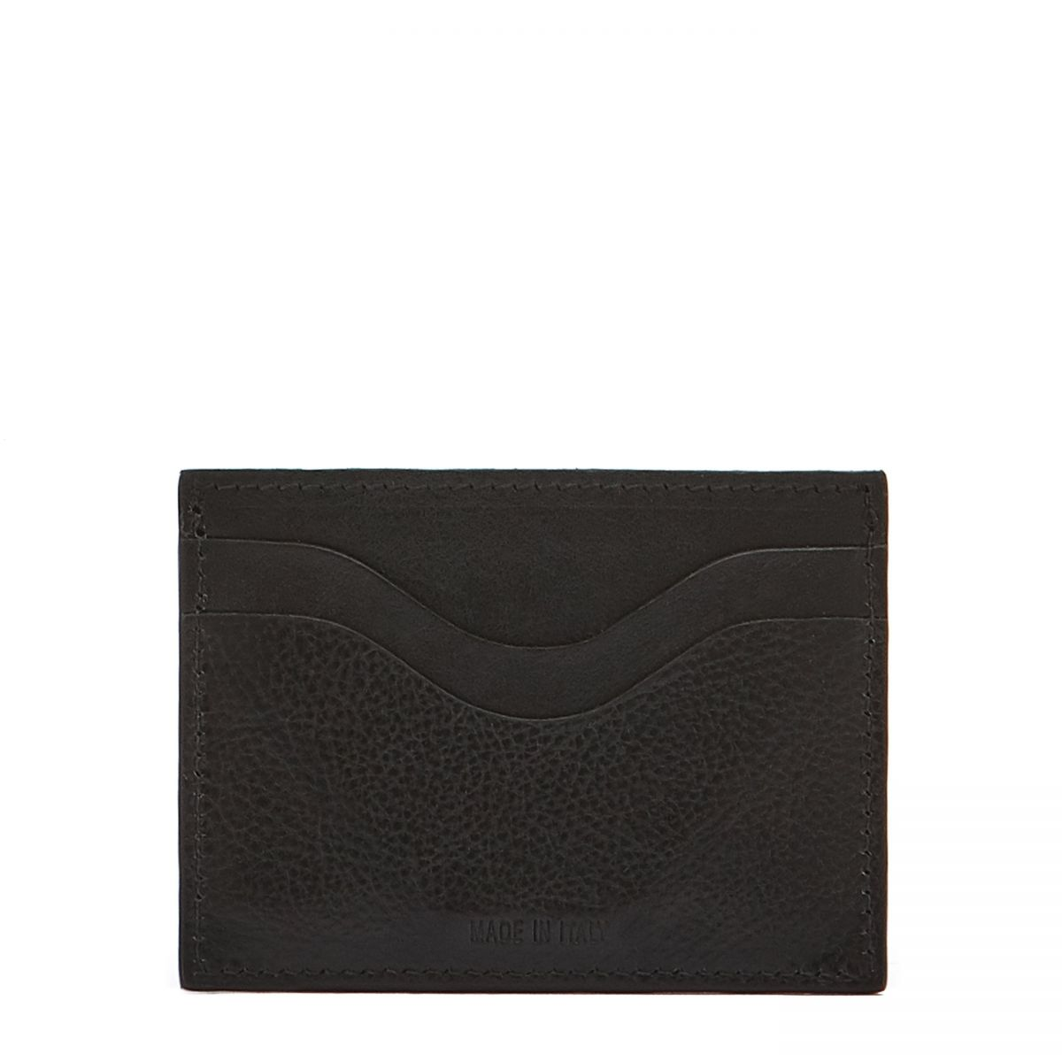 Card Case  in Cowhide Leather SCC050 color Black | Details