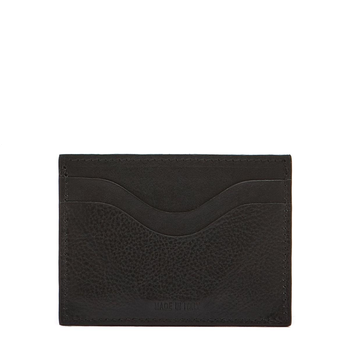 Porta Carte  in Pelle Di Vacchetta SCC050 colore Nero | Details