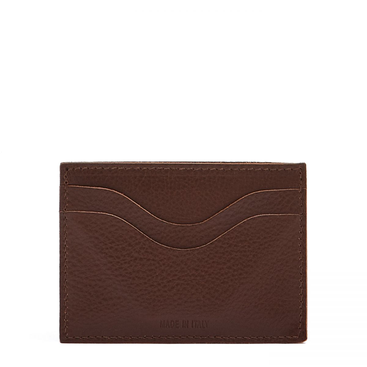 Card Case  in Cowhide Leather SCC050 color Brown | Details
