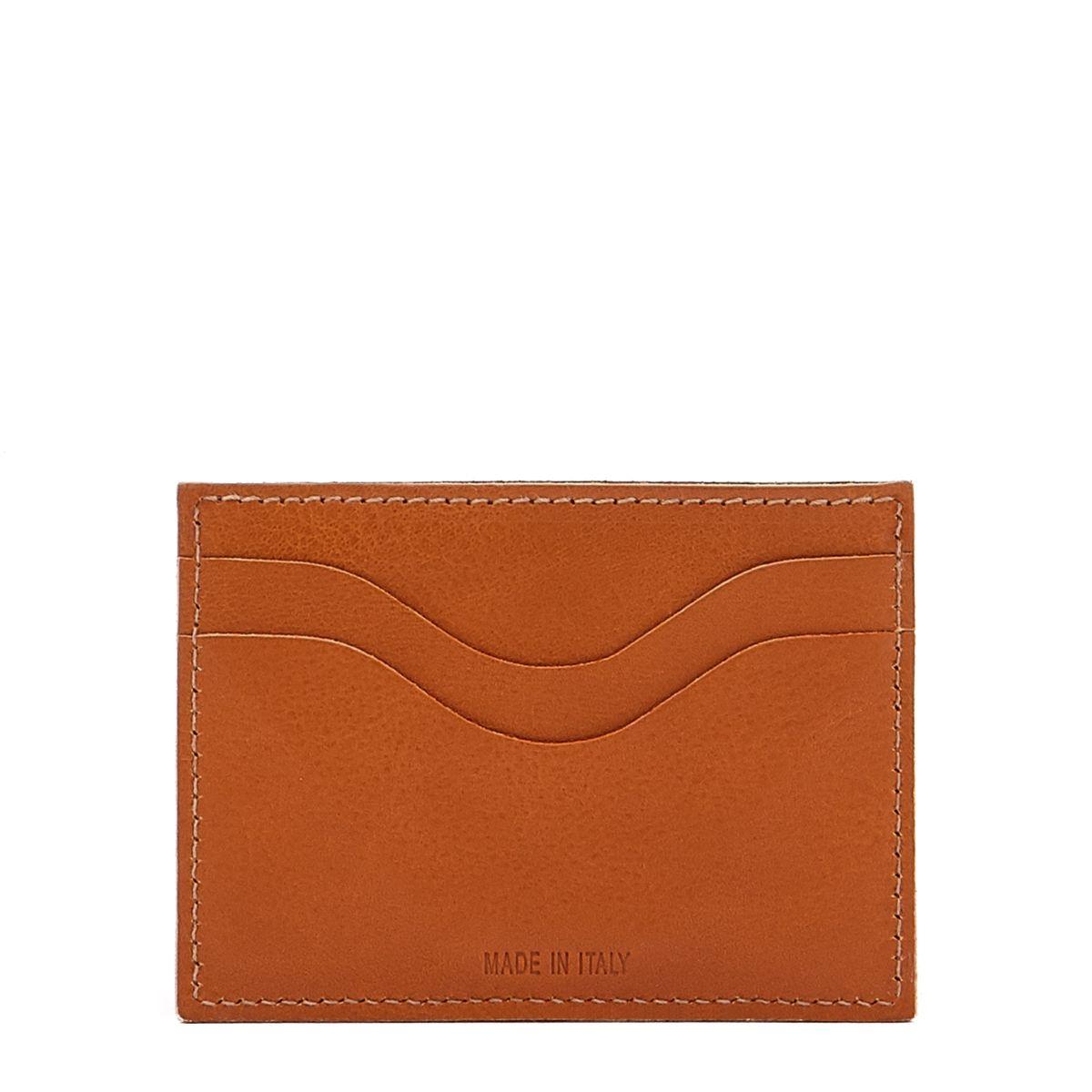 Porte-Cartes  en Cuir De Vachette SCC050 couleur Caramel | Details