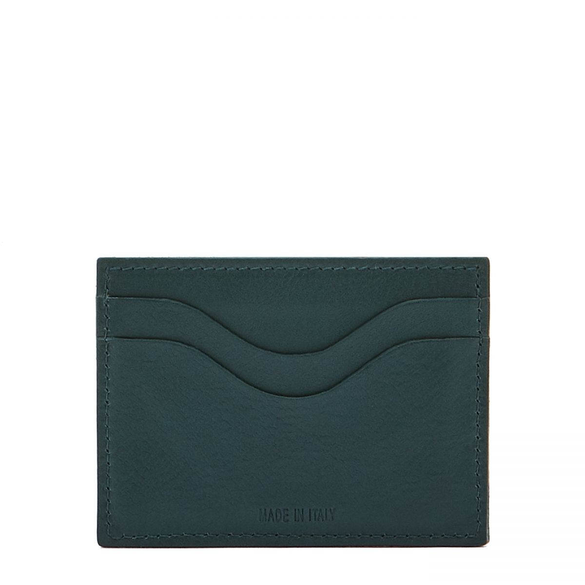 Card Case  in Cowhide Leather SCC050 color Rosemary | Details