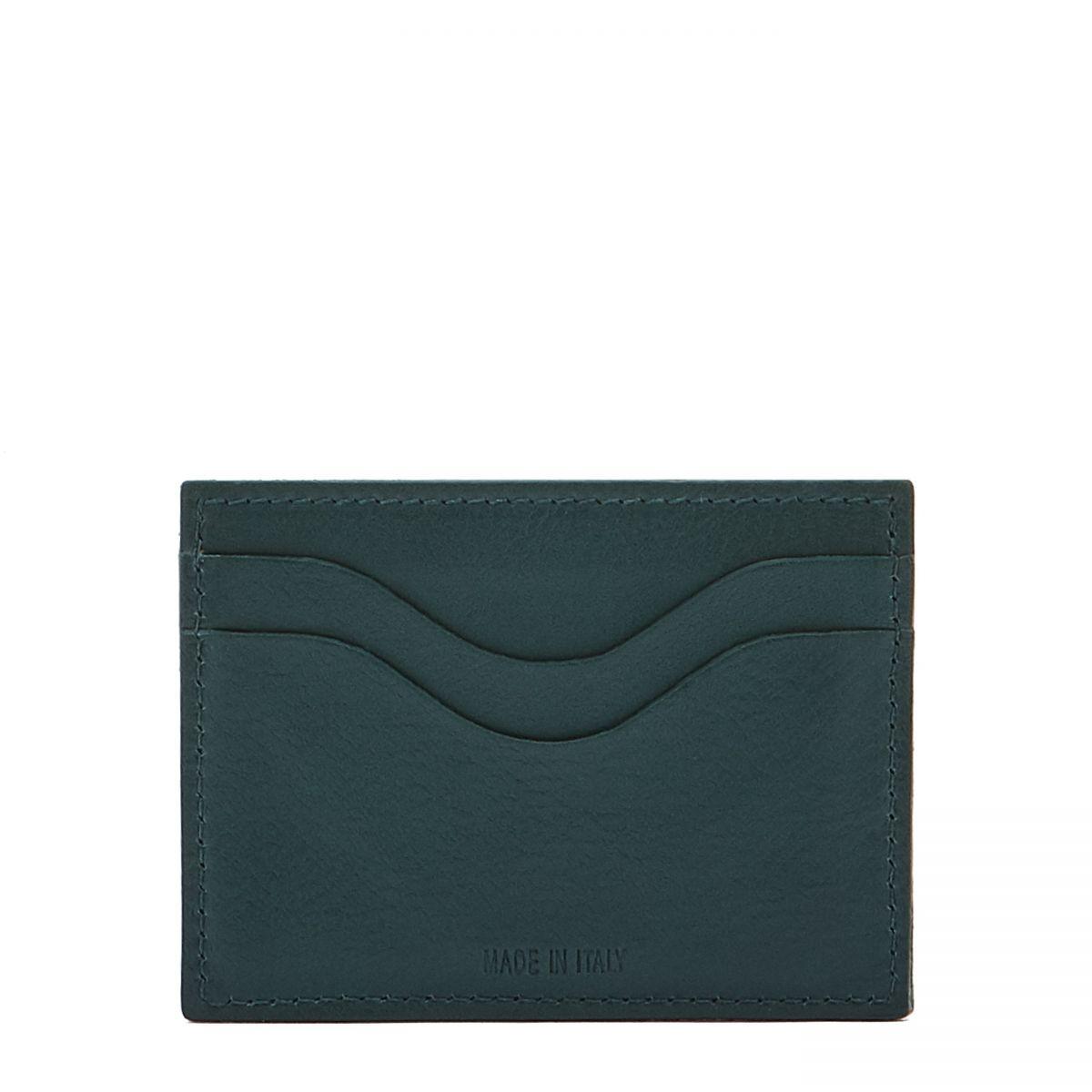 Porte-Cartes  en Cuir De Vachette SCC050 couleur Romarin | Details
