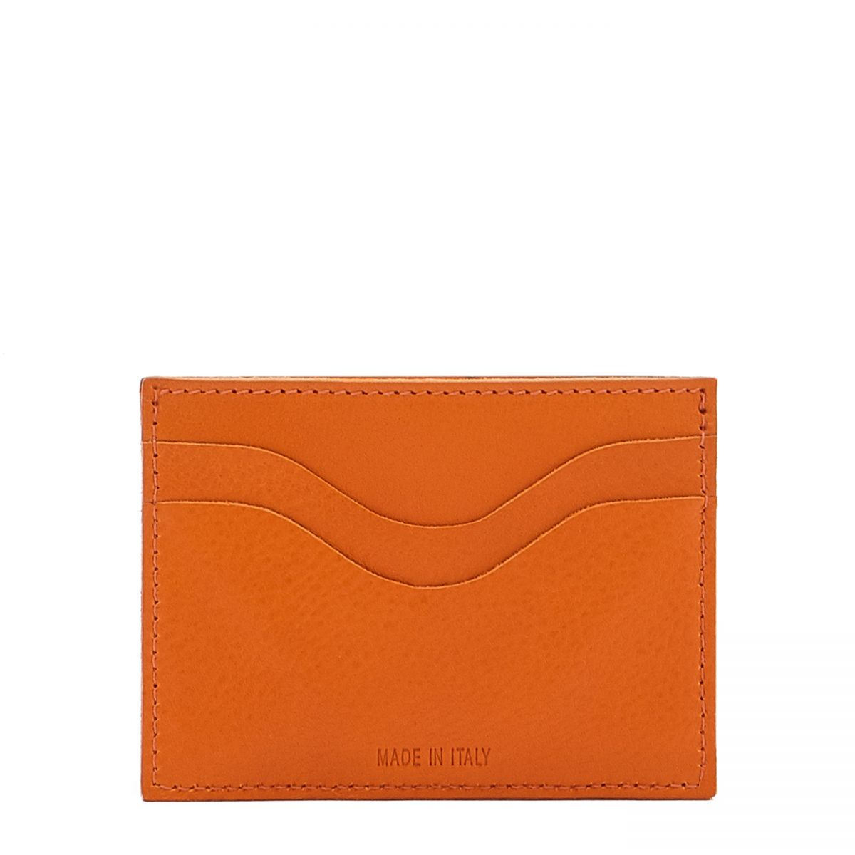 Baratti - Porte-Cartes  en Cuir De Vachette SCC050 couleur Orange | Details