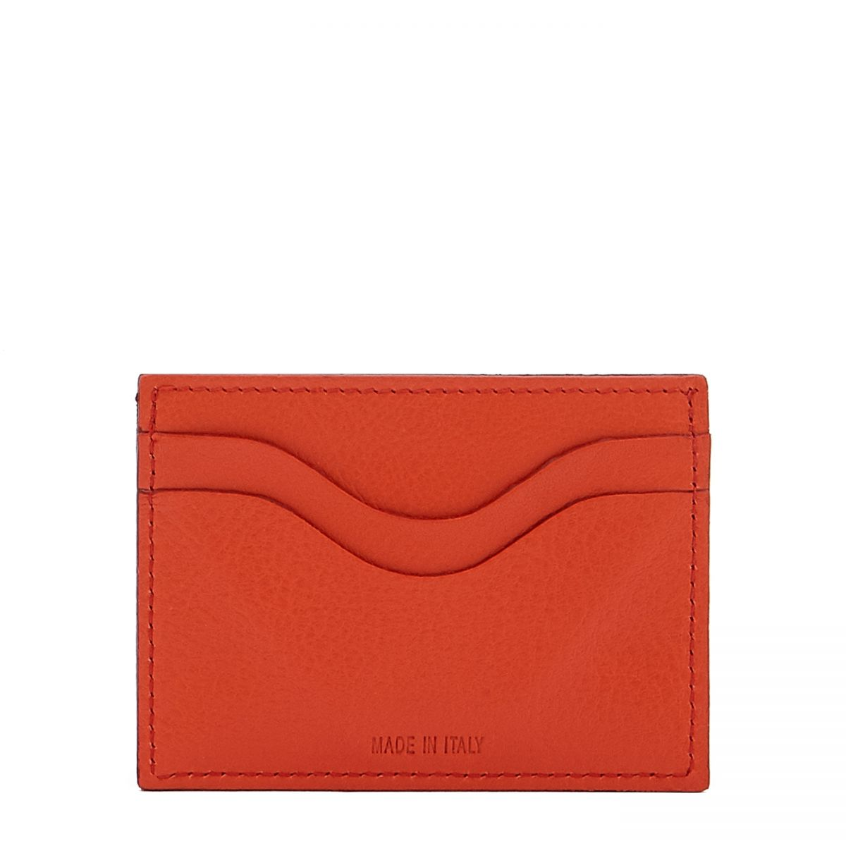 Card Case  in Cowhide Leather SCC050 color Gazpacho | Details