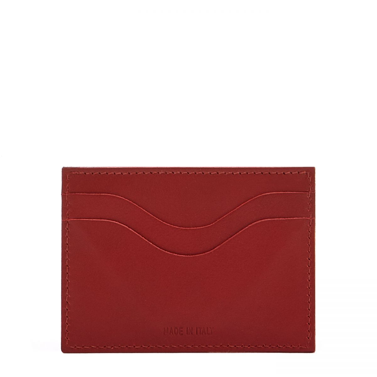 Card Case  in Cowhide Leather SCC050 color Red | Details