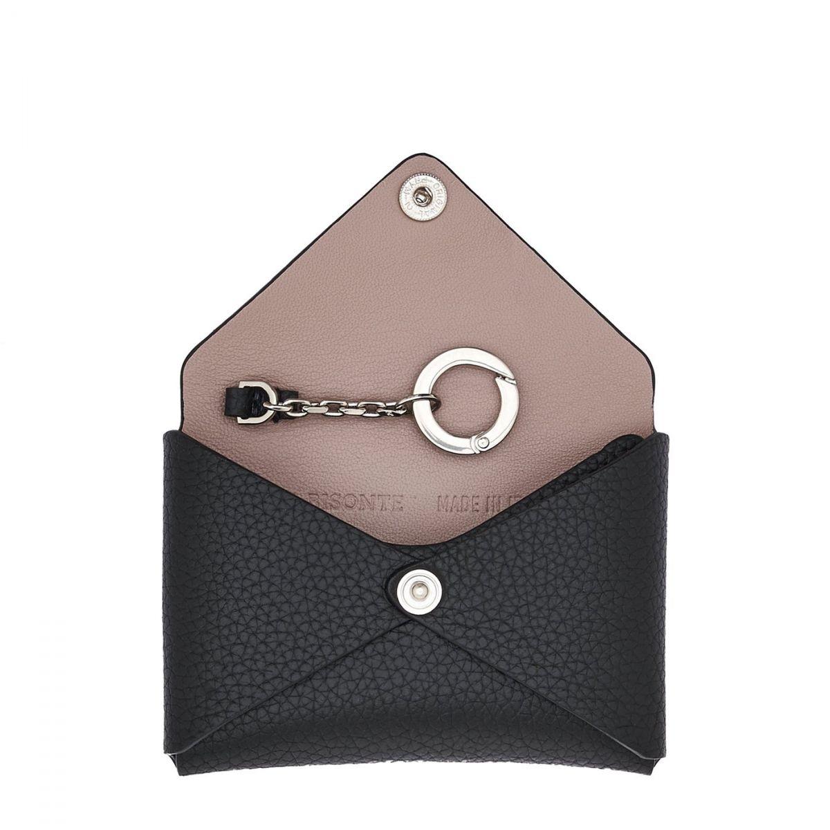 Titania - Porta Carte Multipocket in Pelle Di Vitello SCC065 colore Nero | Details