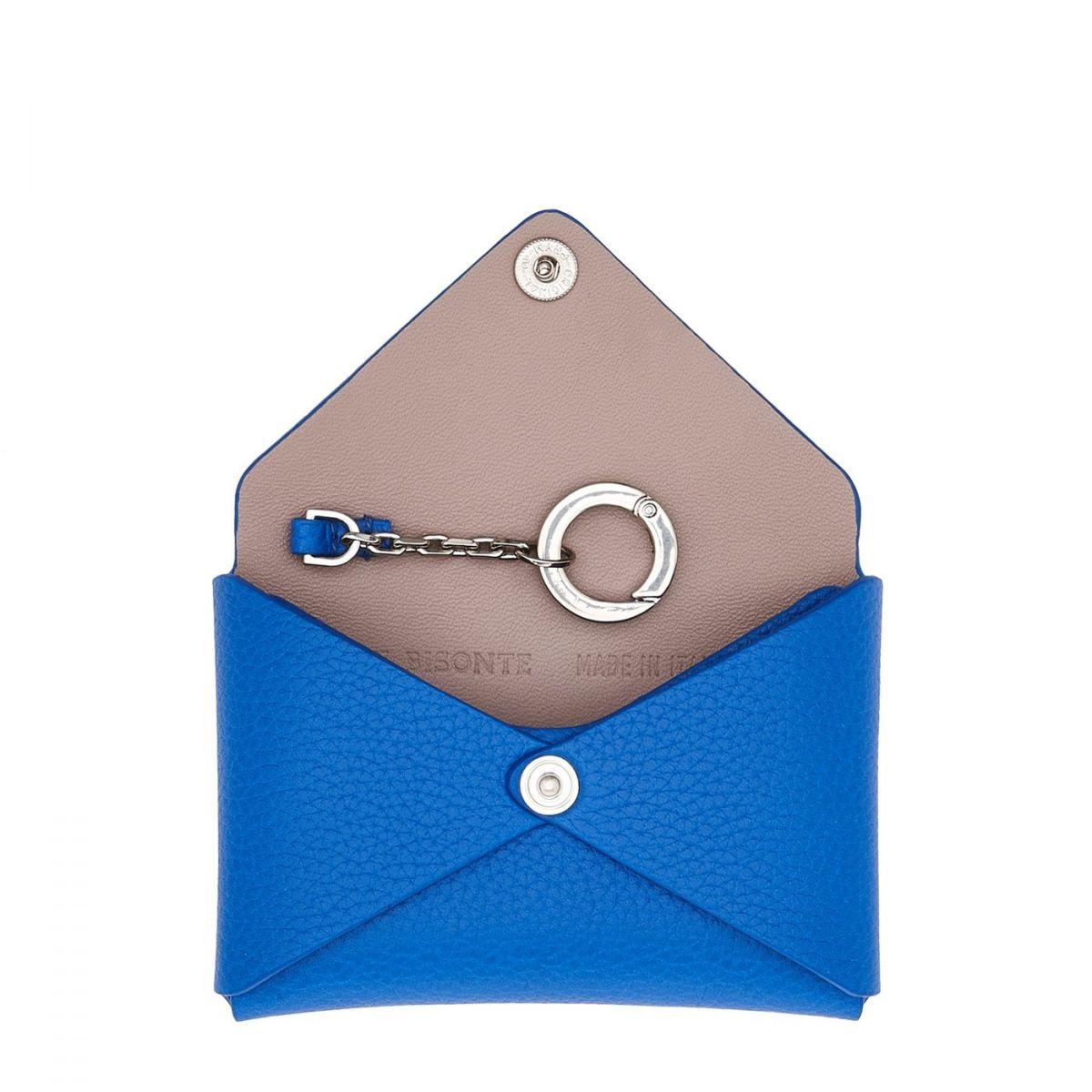 Titania - Card Case Multipocket in Calf Leather SCC065 color Lapis Lazuli   Details