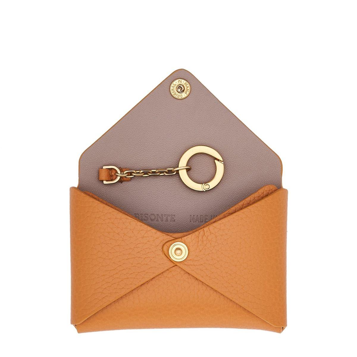 Titania - Porte-Cartes Multipocket en Cuir De Veau SCC065 couleur Ocre | Details