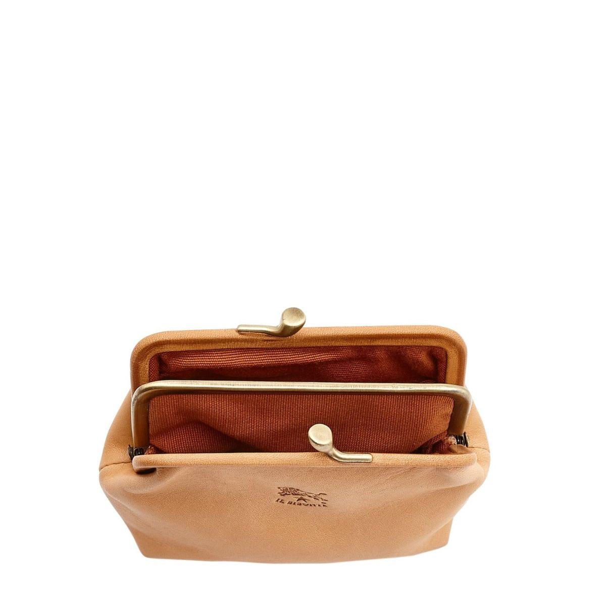 Porta Spiccioli da Donna  in Doppia Pelle Di Vacchetta SCP005 colore Naturale | Details