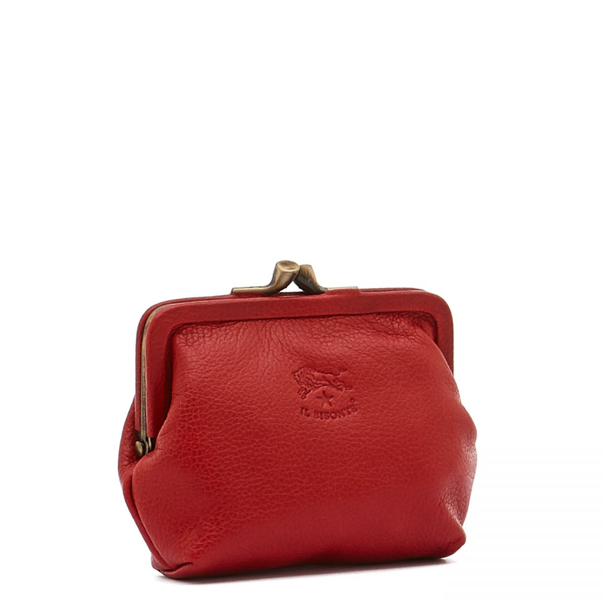 Women's Coin Purse in Cowhide Double Leather color Red - SCP005 | Details