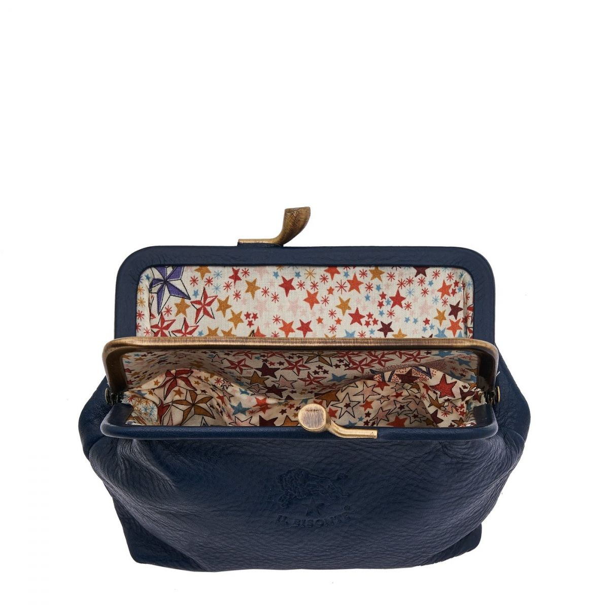 Porta Spiccioli da Donna  in Pelle Di Vacchetta SCP005 colore Blu | Details
