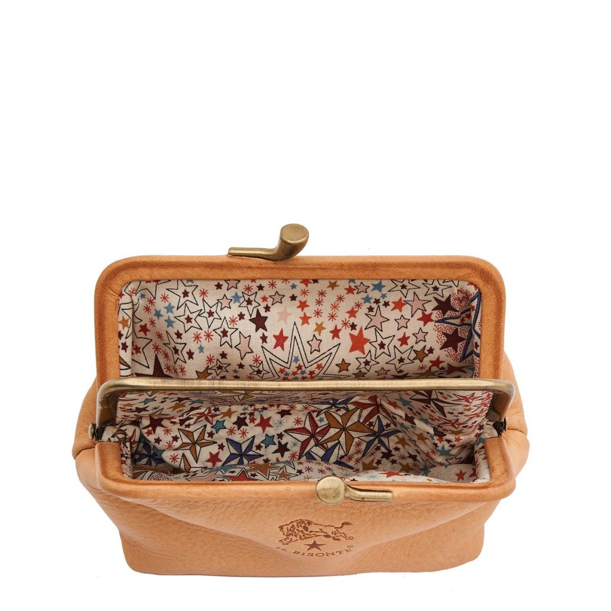Women's Coin Purse  in Cowhide Leather SCP005 color Natural | Details