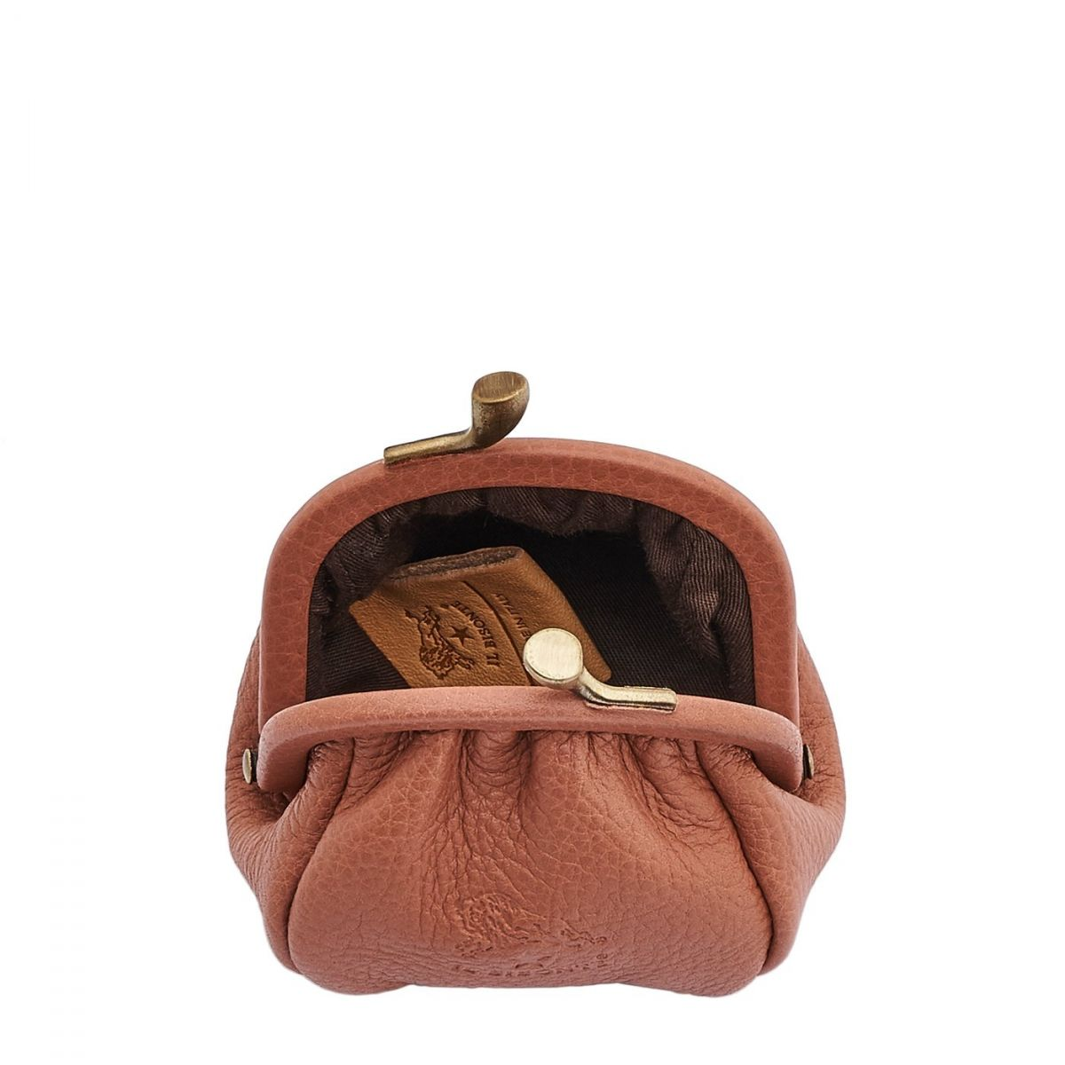 Women's Coin Purse in Cowhide Leather SCP016 color Pink Pepper | Details