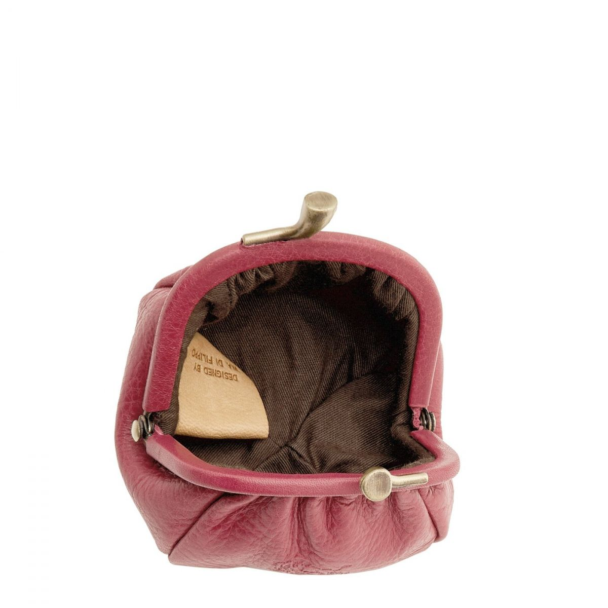 Women's Coin Purse in Cowhide Leather SCP016 color Sumac | Details