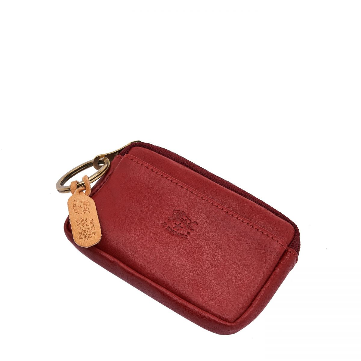 Coin Purse  in Cowhide Double Leather SCP017 color Red | Details