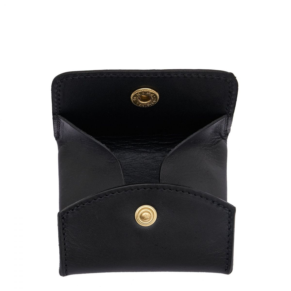 Coin Purse in Cowhide Leather SCP020 color Black | Details