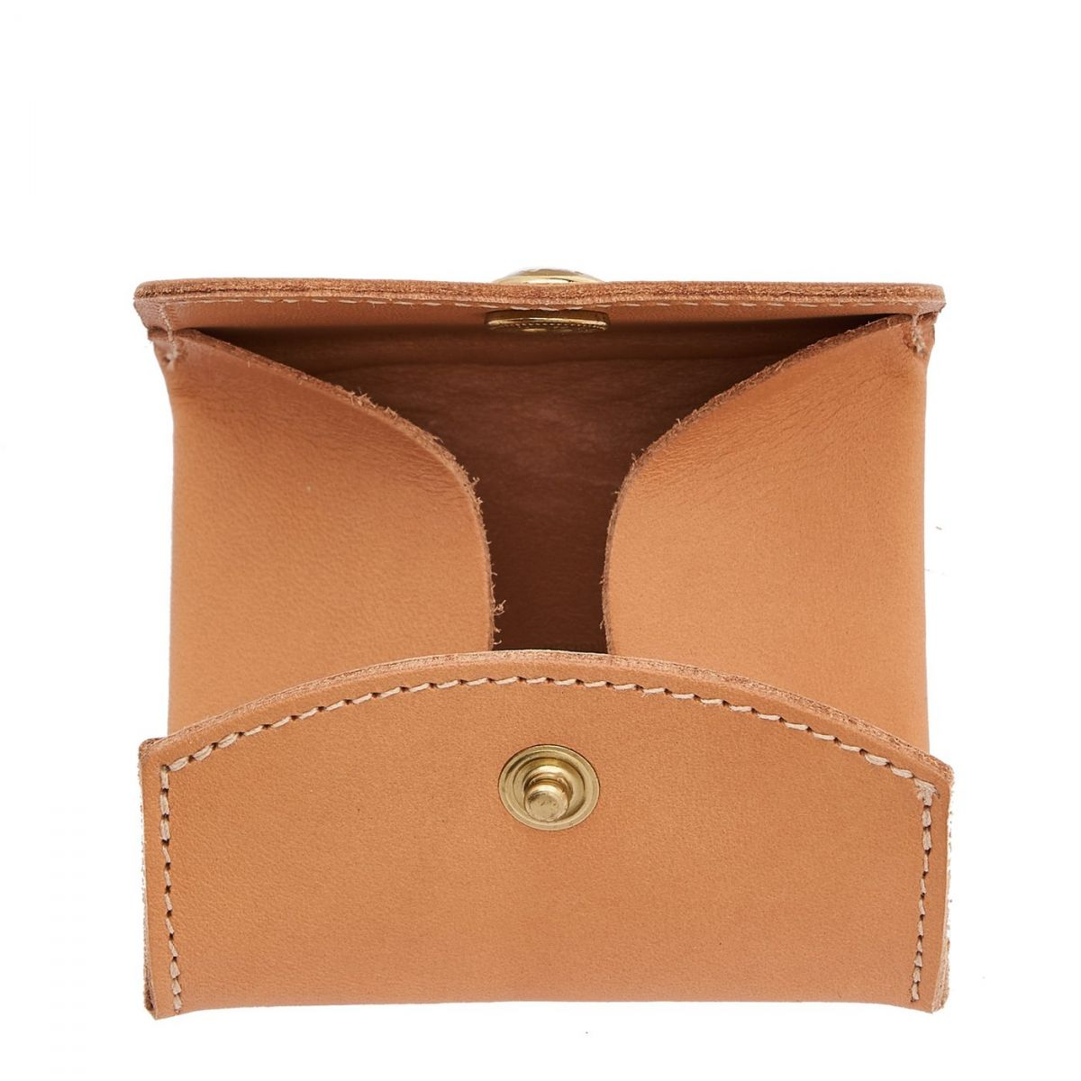 Coin Purse in Cowhide Leather SCP020 color Natural | Details