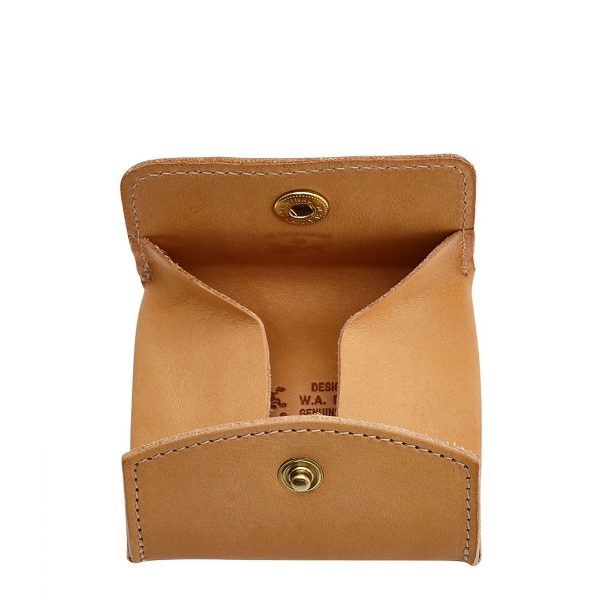 Coin Purse in Cowhide Double Leather color Natural - SCP020 | Details