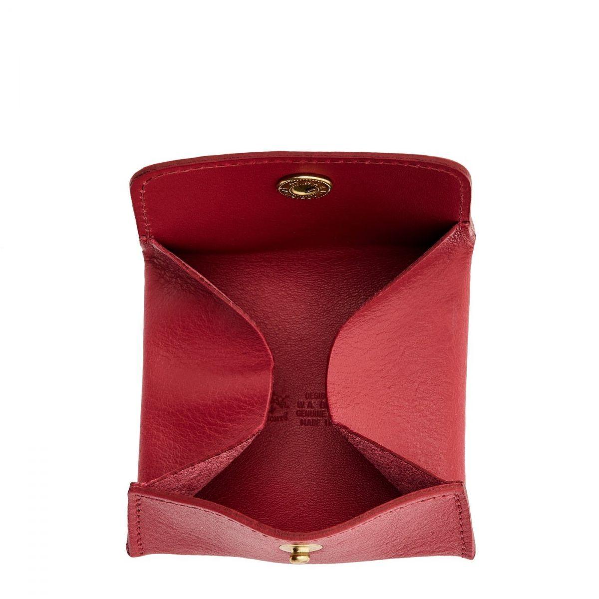 Porta Spiccioli in Pelle Di Vacchetta SCP020 colore Sumac | Details