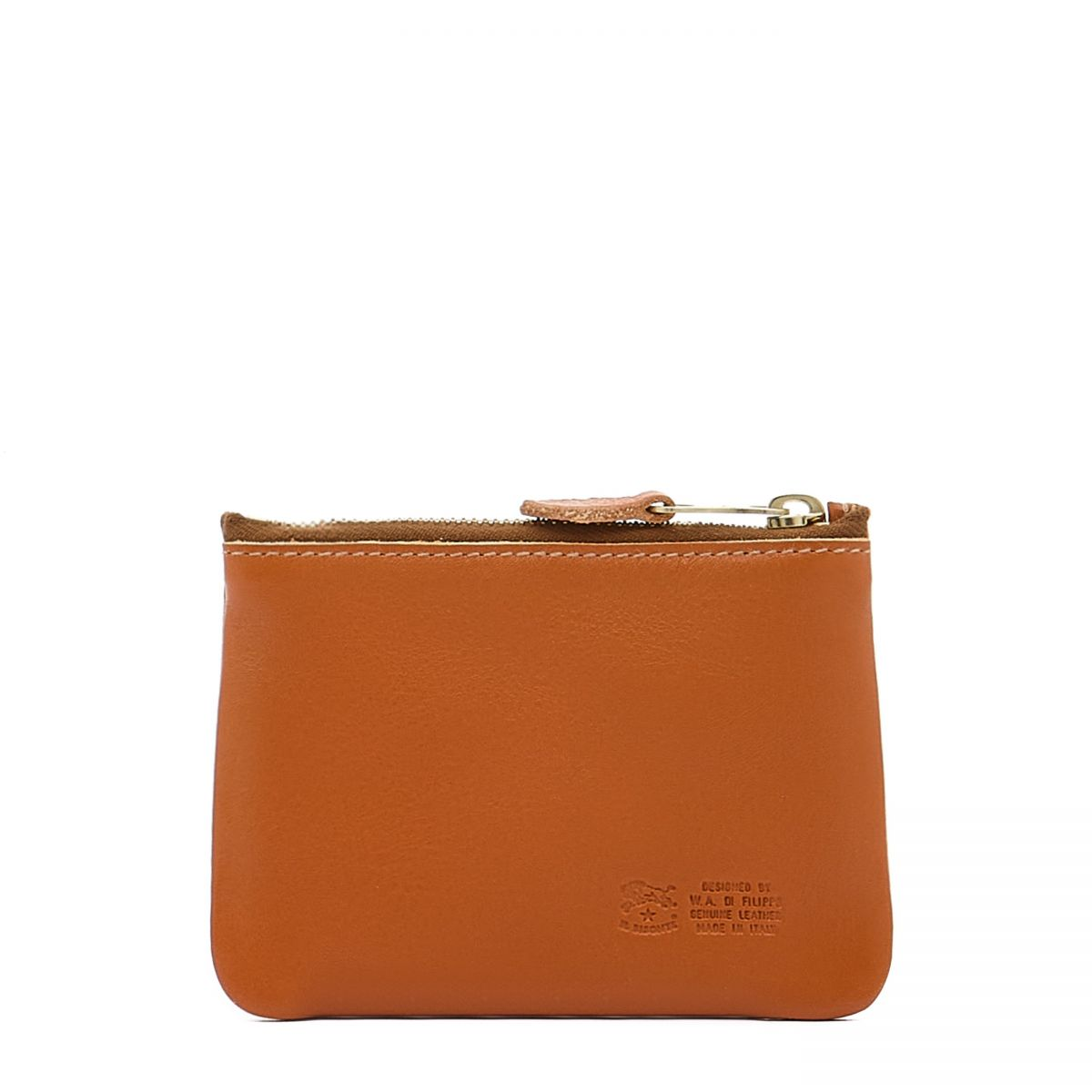 Coin Purse  in Cowhide Double Leather SCP034 color Caramel | Details