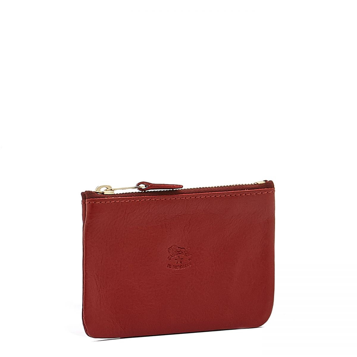 Coin Purse  in Cowhide Double Leather SCP034 color Red | Details