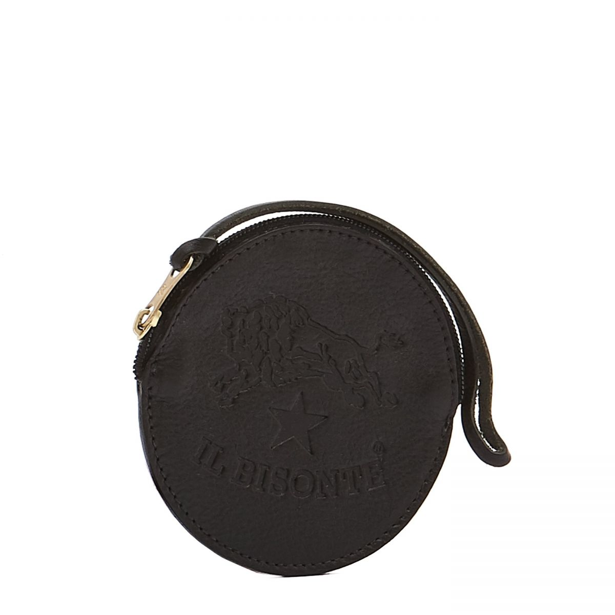 Coin Purse  in Cowhide Double Leather SCP038 color Black | Details