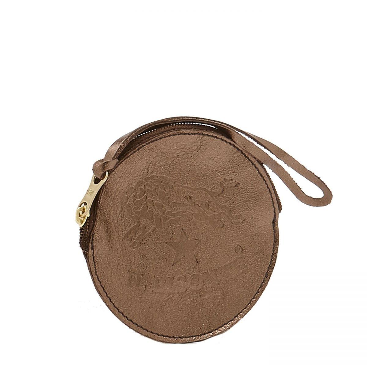 Porta Spiccioli in Pelle Metallizzata SCP038 colore Bronze | Details