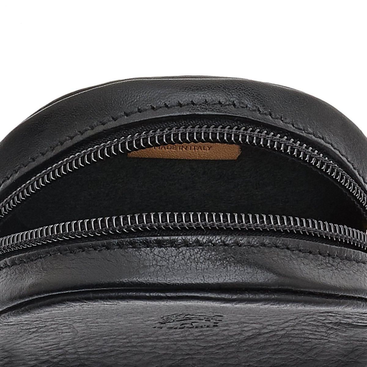 Porte Monnaie  en Cuir De Vachette SCP042 couleur Noir | Details