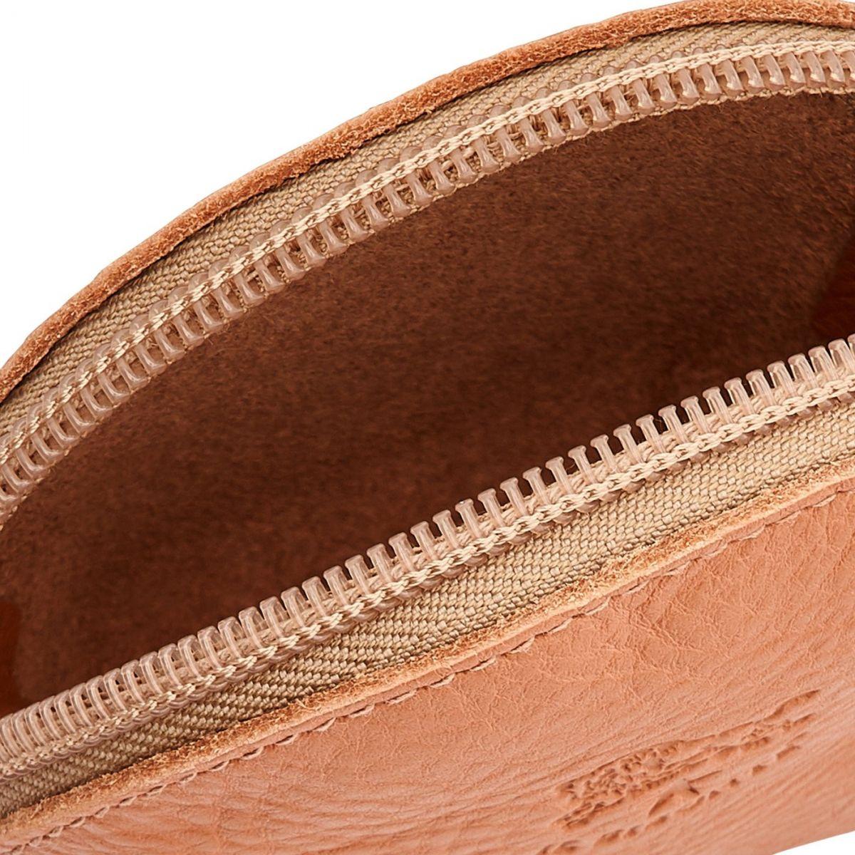 Porta Spiccioli da Donna  in Pelle Di Vacchetta SCP045 colore Pepe Rosa | Details