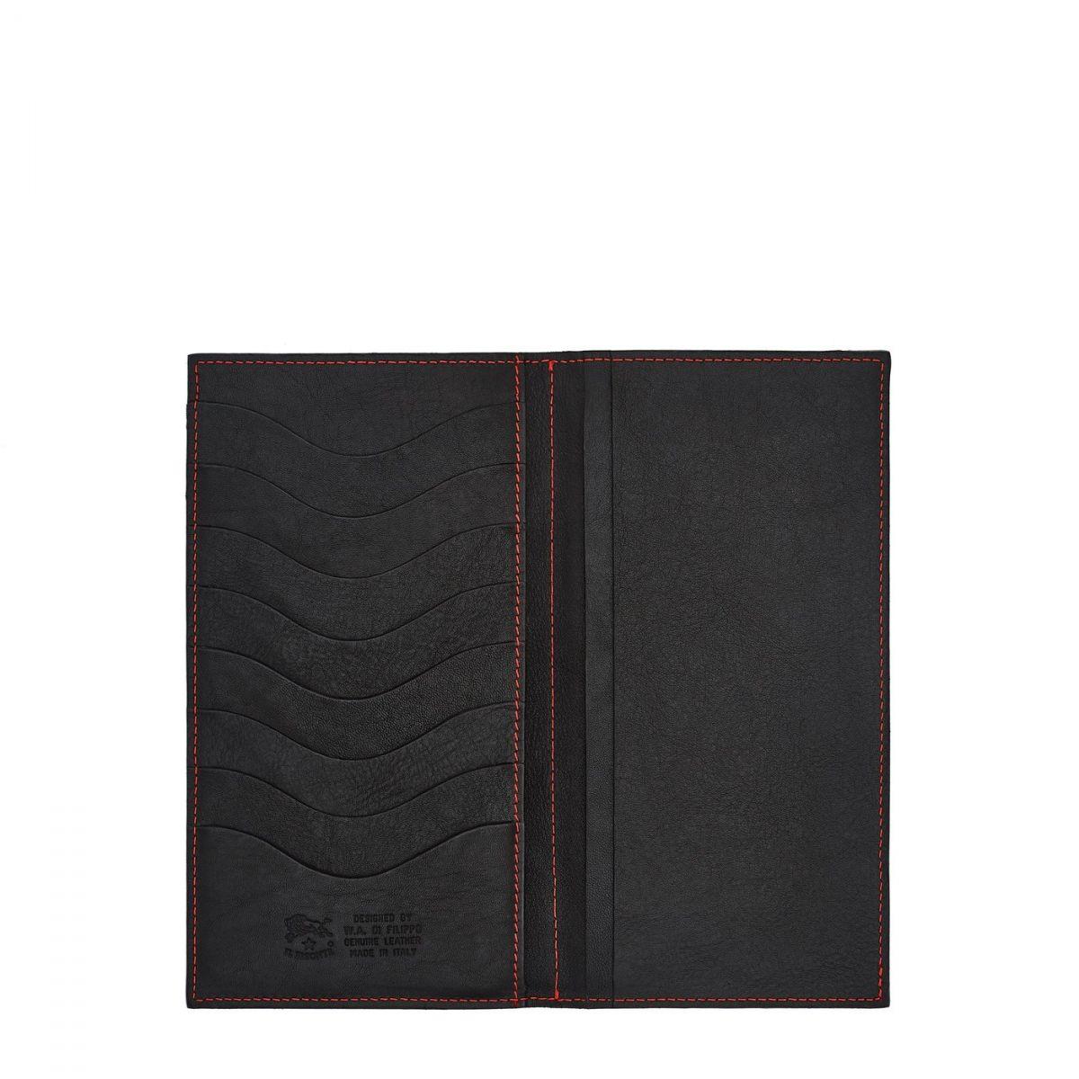 Continental Wallet  in Vintage Cowhide Leather SCW003 color Dark Grey | Details