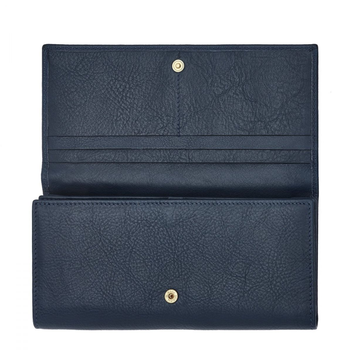 Women's Continental Wallet  in Cowhide Double Leather SCW005 color Blue | Details