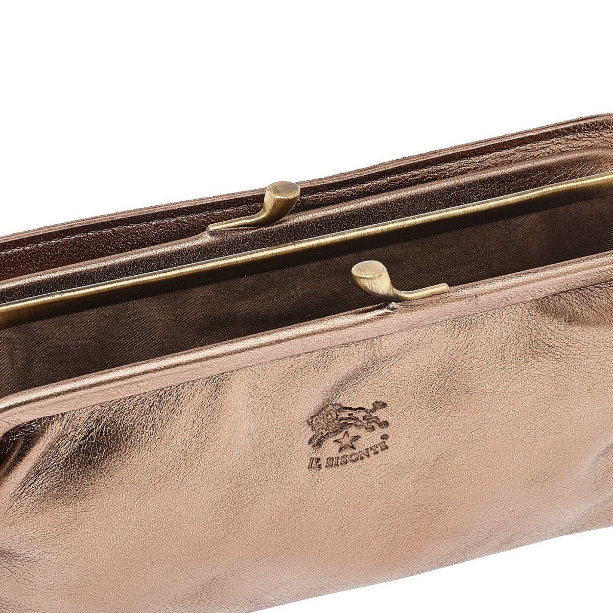 Portafoglio Continental da Donna in Pelle Metallizzata SCW006 colore Bronze | Details