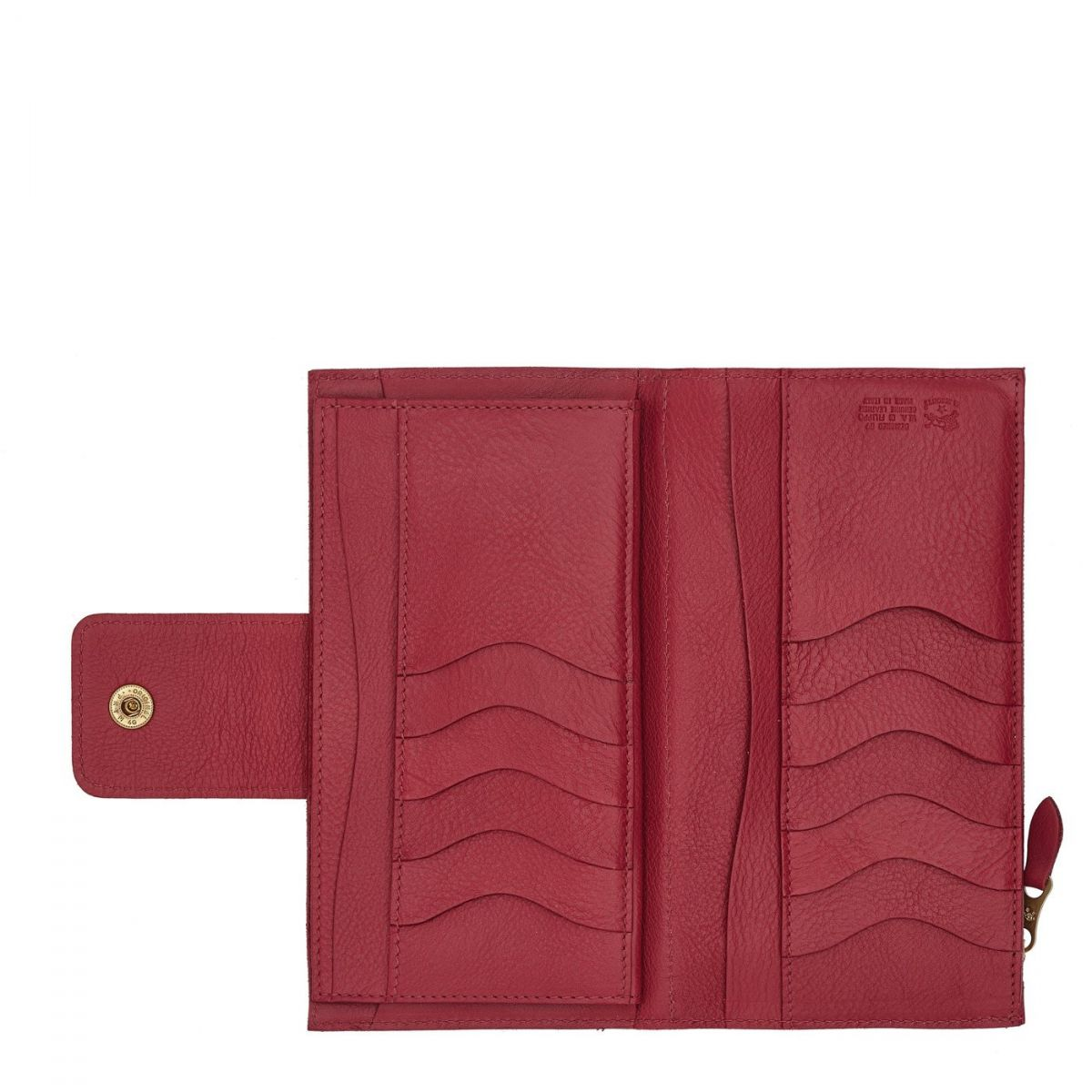 Women's Continental Wallet  in Cowhide Leather SCW007 color Sumac | Details