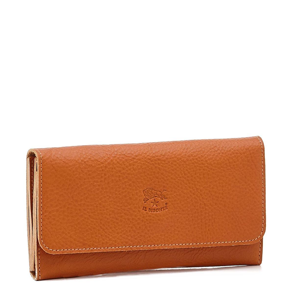 Portafoglio Continental da Donna  in Doppia Pelle Di Vacchetta SCW009 colore Caramello | Details