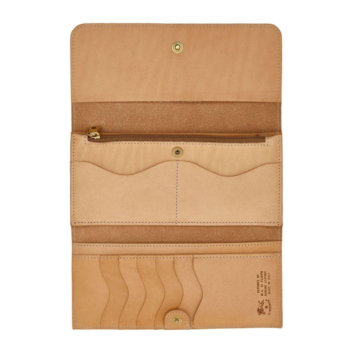 Portafoglio Continental da Donna  in Doppia Pelle Di Vacchetta SCW009 colore Naturale | Details