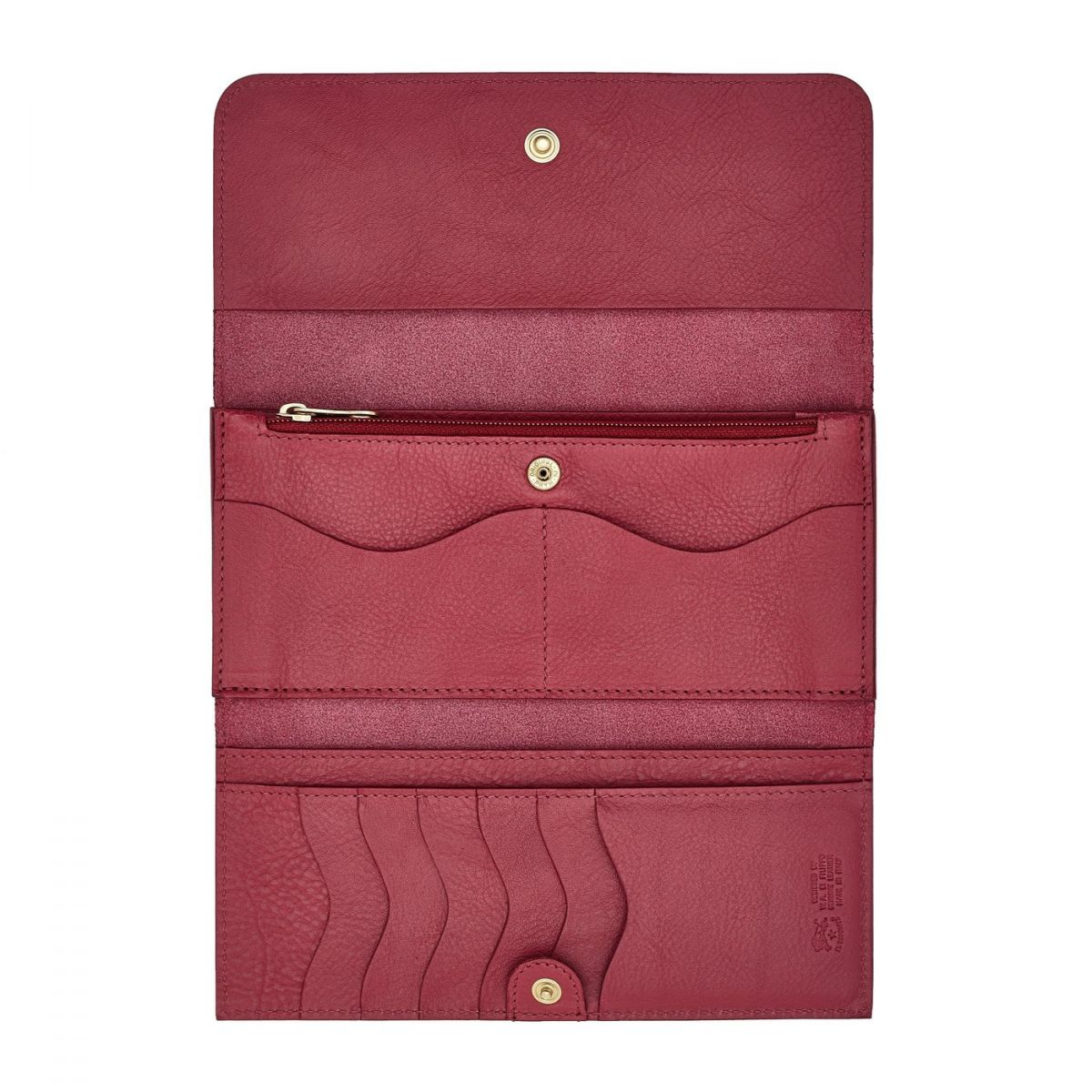 Women's Continental Wallet  in Cowhide Leather SCW009 color Sumac | Details