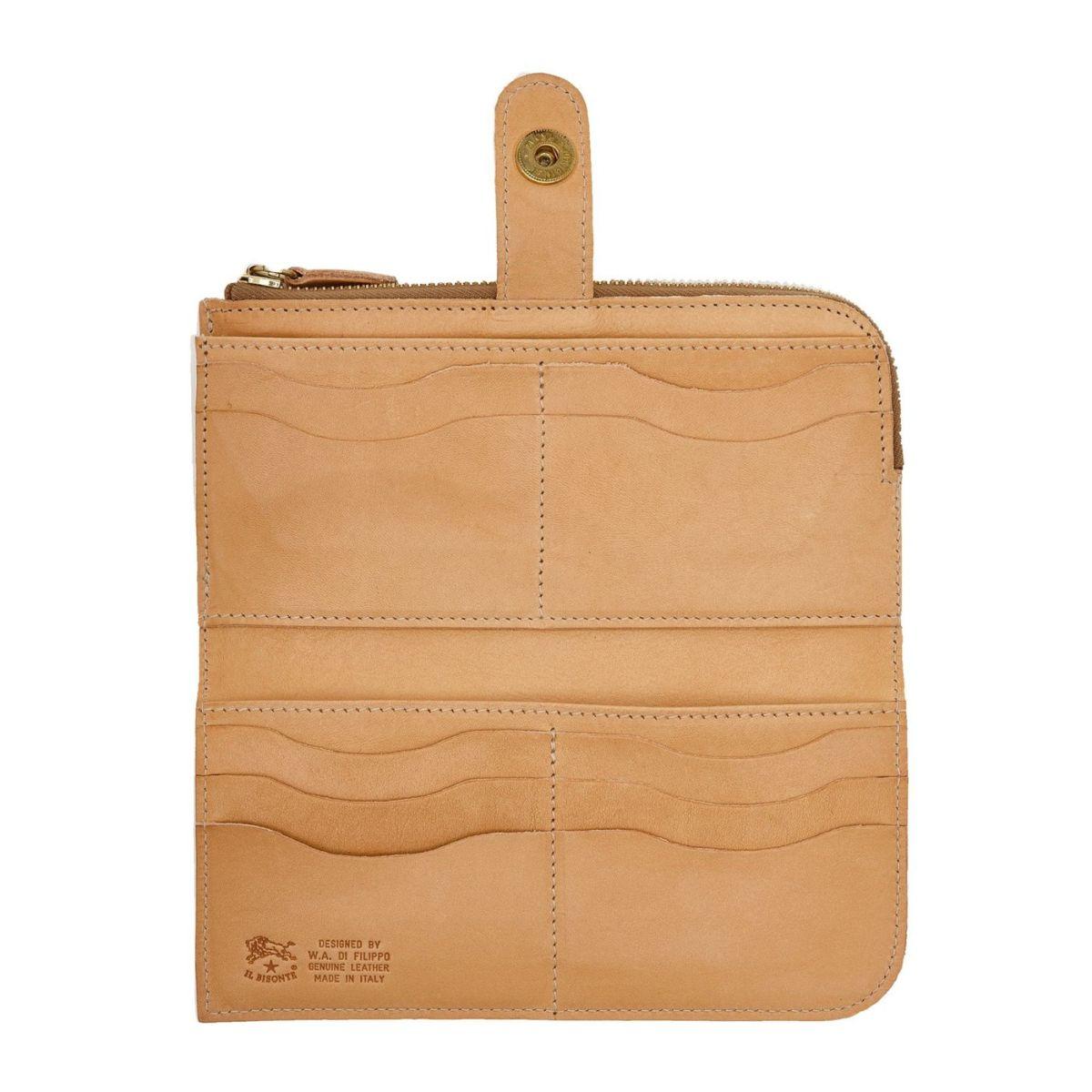 Portafoglio Continental da Donna in Doppia Pelle Di Vacchetta colore Naturale - SCW011 | Details