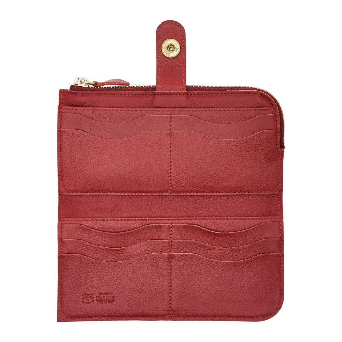 Portafoglio Continental da Donna in Doppia Pelle Di Vacchetta colore Rosso - SCW011 | Details