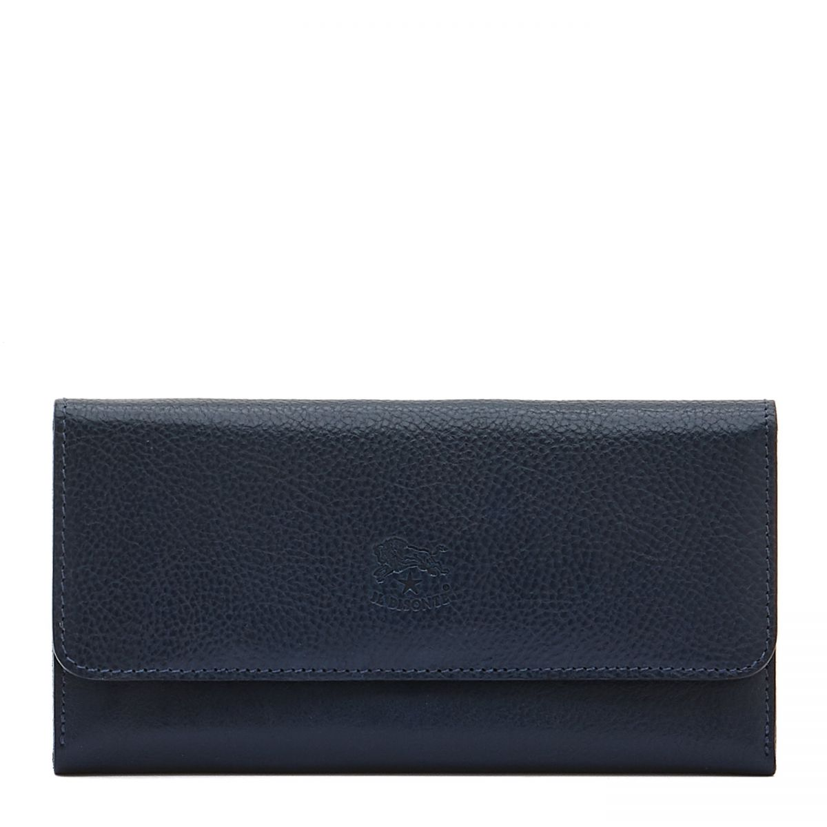 Women's Continental Wallet  in Cowhide Double Leather SCW061 color Blue | Details