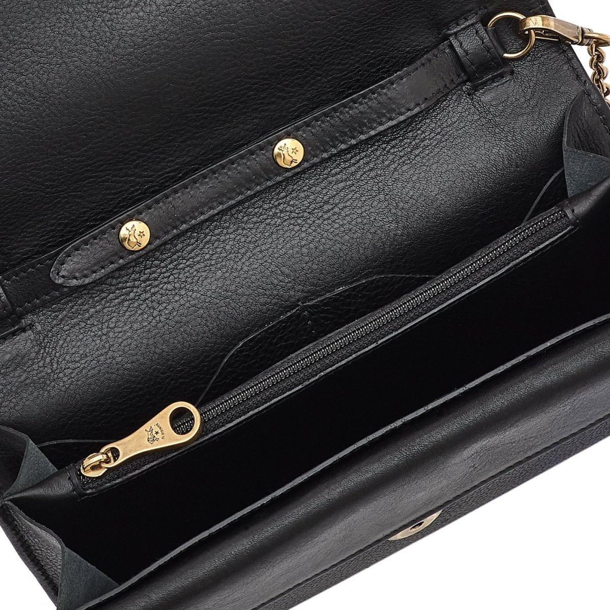 Portefeuille Continental pour Femme  en Cuir De Vachette SCW067 couleur Noir | Details